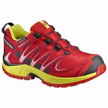 Salomon XA PRO 3D CSWP K Gyerek Trail Futócipő - Piros Sárga 8c0c7c5219